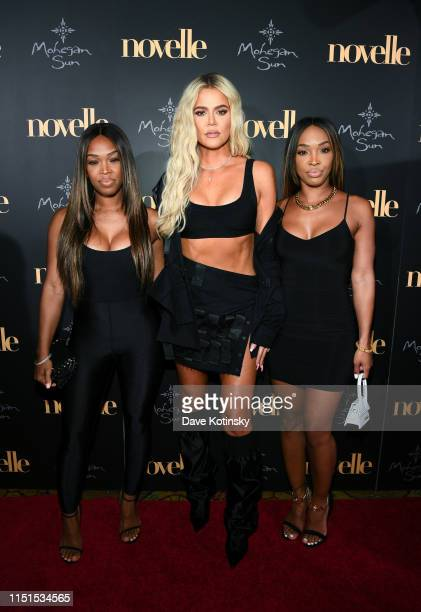 Khadijah Haqq McCray, Khloe Kardashian and Malika Haqq walk the red carpet at the official grand opening party for Mohegan Sun's new ultra-lounge,...
