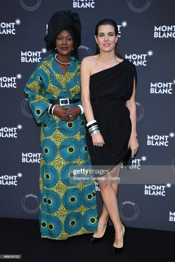 Khadja Nin and Charlotte Casiraghi attend as Montblanc launch new collection and dinner hosted by Charlotte Casiraghi during the 71st annual Cannes Film Festival at Villa la Favorite on May 16, 2018 in Cannes, France.