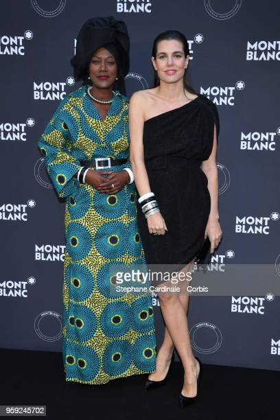 Khadja Nin and Charlotte Casiraghi attend as Montblanc launch new collection and dinner hosted by Charlotte Casiraghi during the 71st annual Cannes...