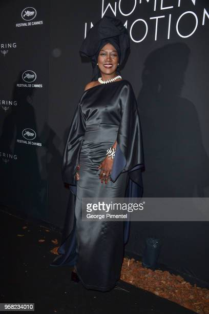 Khadja Nin attends the Kering Women In Motion dinner during the 71st annual Cannes Film Festival at Place de la Castre on May 13, 2018 in Cannes,...