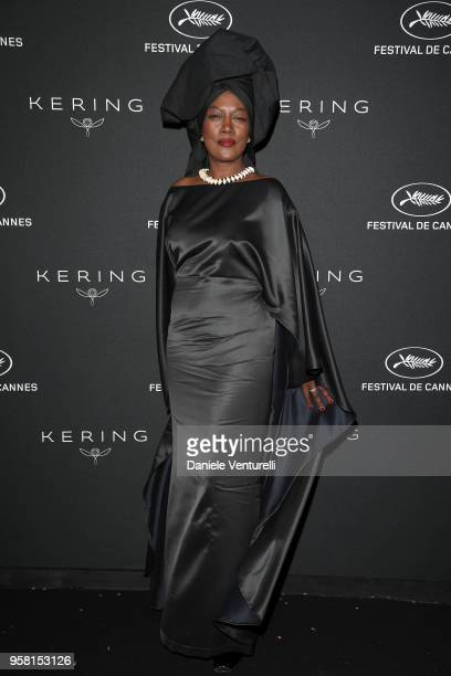 Khadja Nin attends the Women in Motion Awards Dinner presented by Kering and the 71th Cannes Film Festival at Place de la Castre on May 13 2018 in...