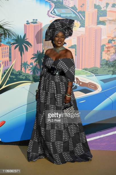 Khadja Nin Icks attends the Rose Ball 2019 to benefit the Princess Grace Foundation on March 30 2019 in Monaco Monaco