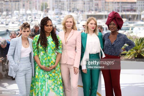 Khadja Nin Lea Seydoux Cate Blanchett Ava DuVernay and Kristen Stewart attend the photocall for Jury during the 71st annual Cannes Film Festival at...