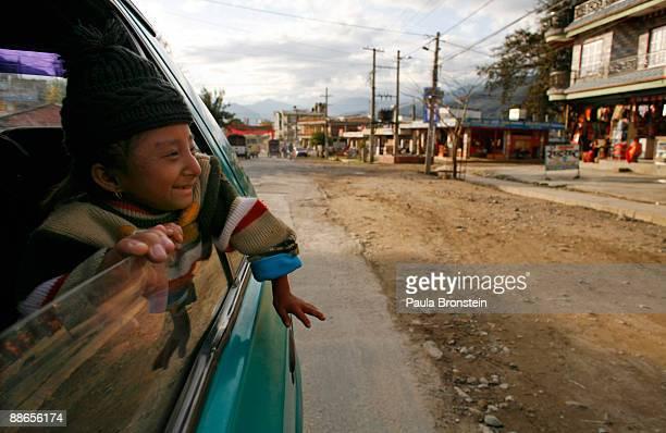 Khagendra Thapa Magar, 15 and a half, goes on a ride to Fewa Lake with his manager Min Bahadur Rana Magar on March 13, 2007 in Pokhara, Nepal....