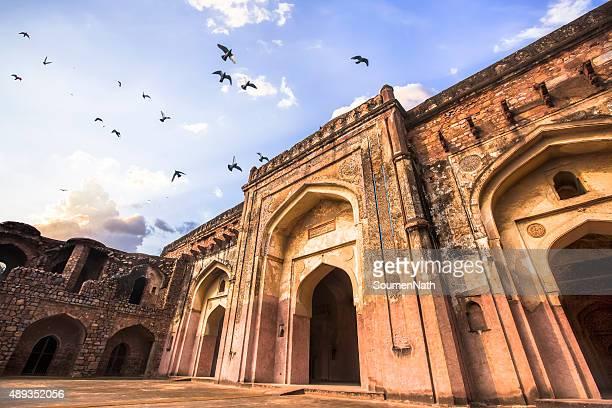 Khairul Manzil Masjid at Purana Qila, Delhi, India - CNGLTRV1109