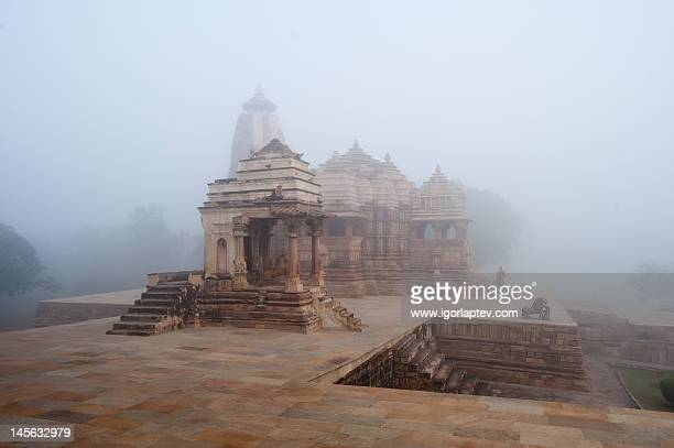 Khajuraho at fog