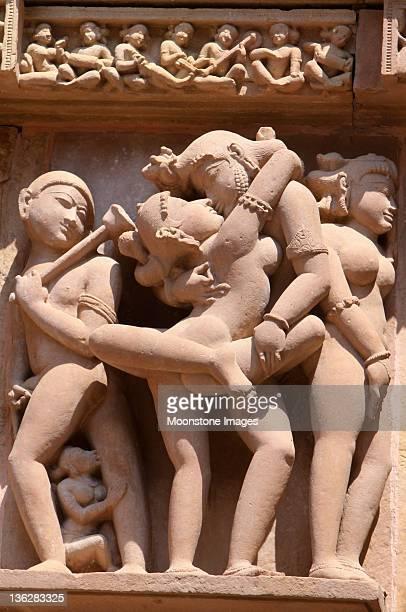 khajuraho em madhya pradesh, índia - templo - fotografias e filmes do acervo