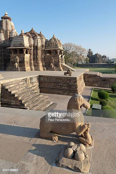 khajuraho temples, india - madhya pradesh stock pictures, royalty-free photos & images