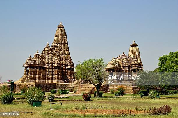 khajuraho temples - madhya pradesh stock pictures, royalty-free photos & images