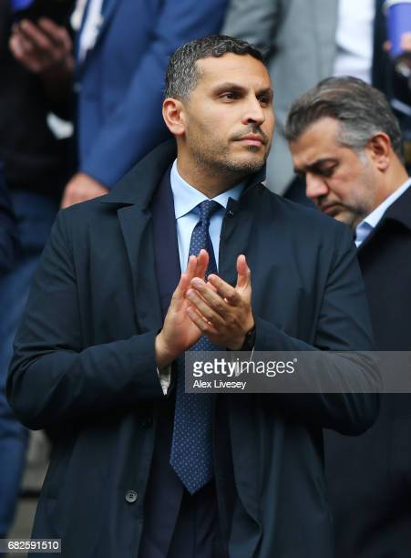 Khaldoon Al Mubarak chairman of Manchester City looks on during the Premier League match between Manchester City and Leicester City at Etihad Stadium...