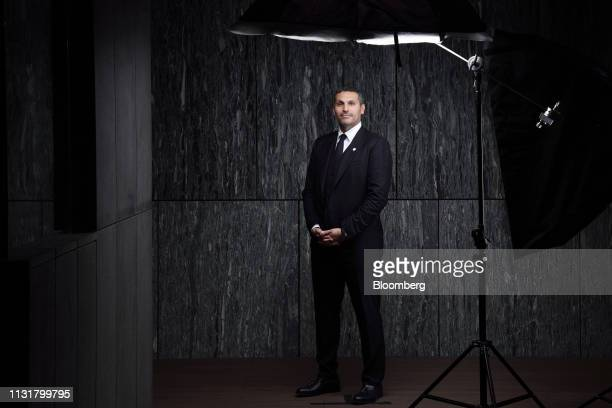 Khaldoon Al Mubarak, chief executive officer of Mubadala Investment Co., poses for a photograph at the Bloomberg Invest Asia forum in Hong Kong,...