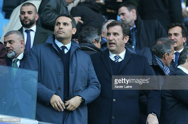 Khaldoon Al Mubarak during the UEFA Champions League Quarter Final second leg match between Manchester City FC and Paris SaintGermain at the Etihad...