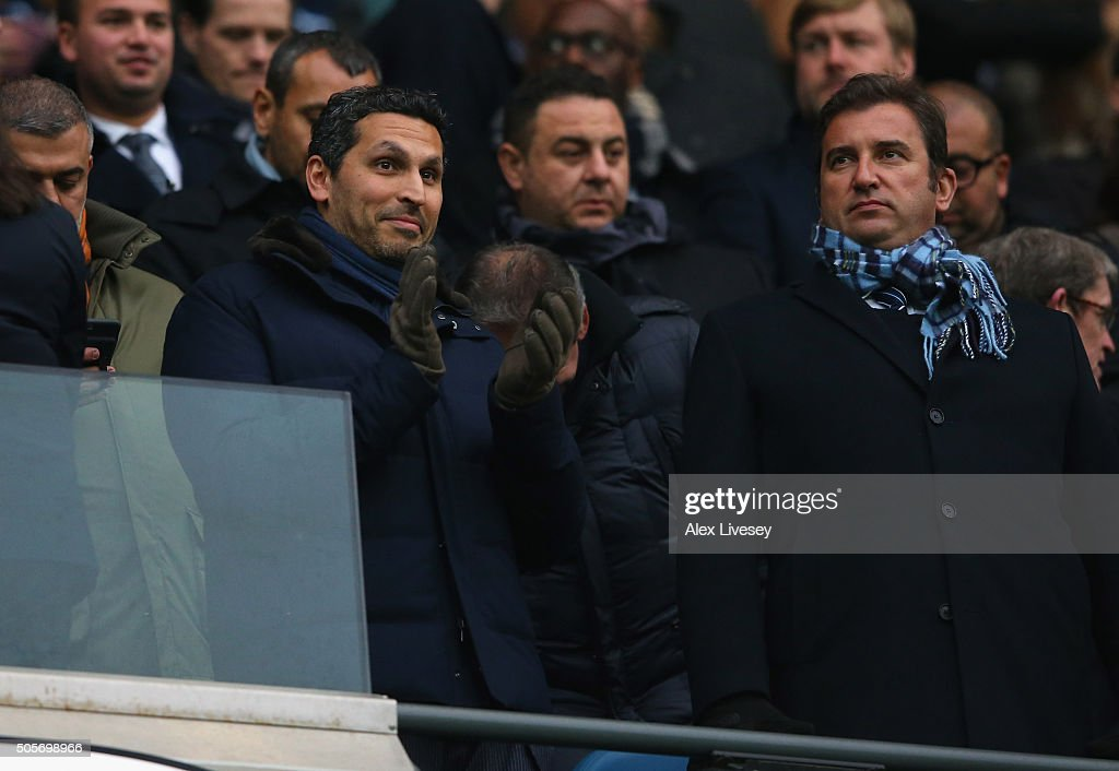 Khaldoon Al Mubarak the Chairman of Manchester City looks on prior to the Barclays Premier League match between Manchester City and Crystal Palace at the Etihad Stadium on January 1, 2016 in Manchester, England.