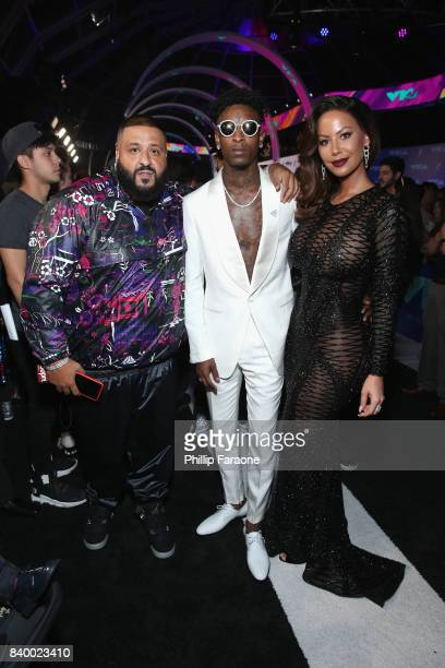 Khaled 21 Savage and Amber Rose attend the 2017 MTV Video Music Awards at The Forum on August 27 2017 in Inglewood California