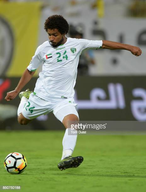 Khaled Ambar of Emirates in action during the Arabian Gulf League match between Al Wasl and Emirates at Zabeel Stadium on September 21 2017 in Dubai...