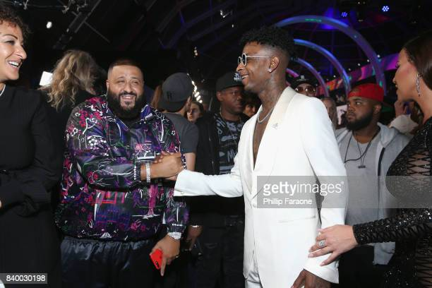 Khaled and 21 Savage attend the 2017 MTV Video Music Awards at The Forum on August 27 2017 in Inglewood California