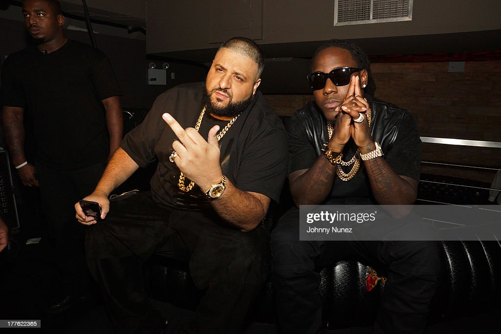 DJ Khaled and Ace Hood attend the We The Best Day Party at Stage 48 on August 24, 2013 in New York City.