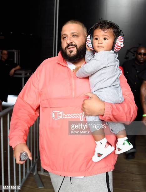 Khaled and Asahd Tuck Khaled perform on stage during Day Two of 2017 Billboard Hot 100 Festival at Northwell Health at Jones Beach Theater on August...
