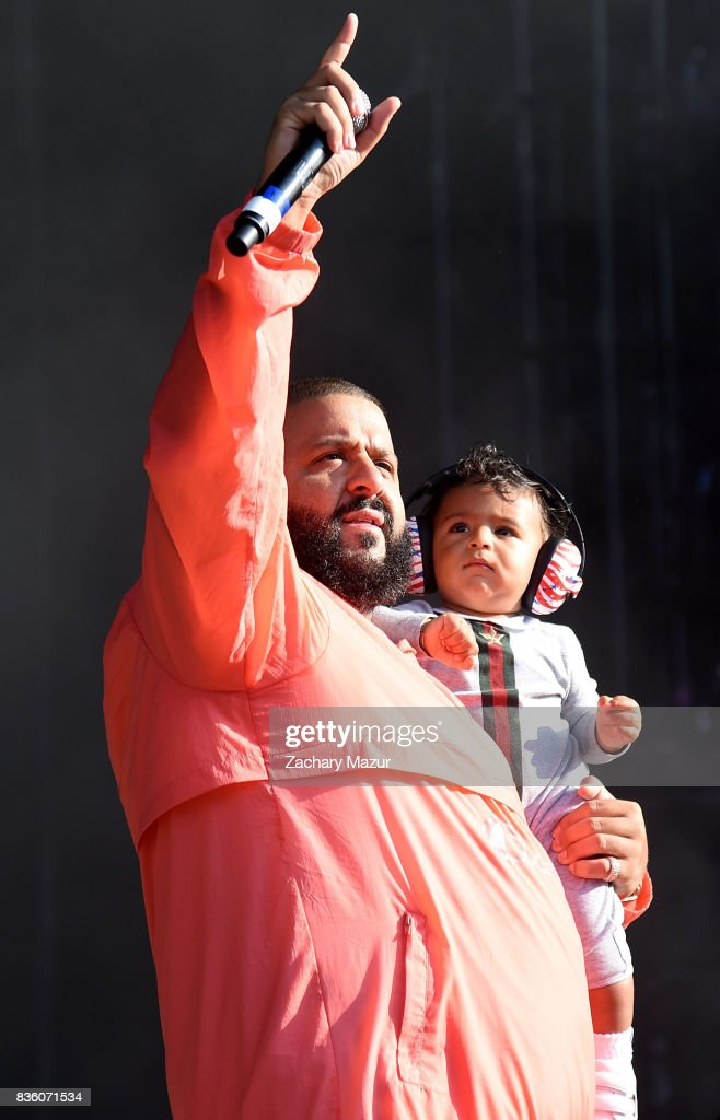 DJ Khaled and Asahd Tuck Khaled performs at 2017 Billboard HOT 100 Music Festival at Northwell Health at Jones Beach Theater on August 20, 2017 in Wantagh, New York.