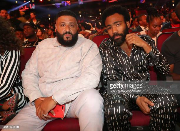 Khaled and Donald Glover attend the 2018 BET Awards at Microsoft Theater on June 24 2018 in Los Angeles California