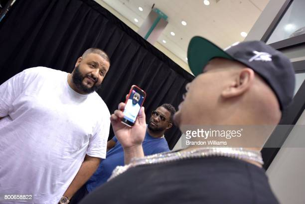 Khaled and Fat Joe at Kicksperience during the 2017 BET Experience at Los Angeles Convention Center on June 24 2017 in Los Angeles California
