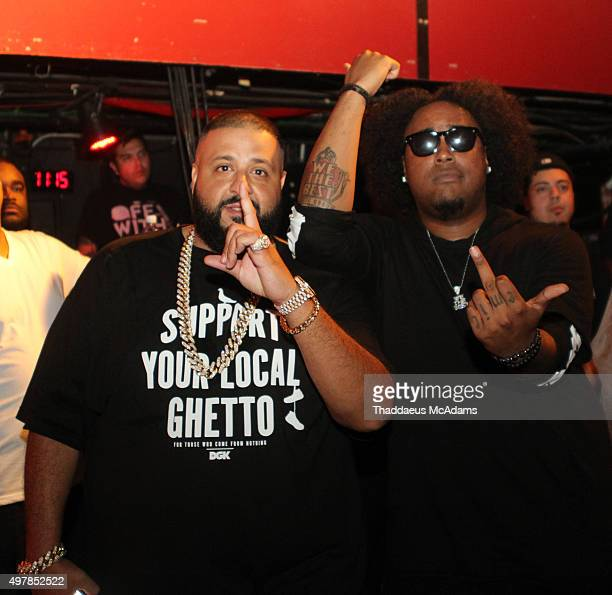 DJ Khaled And Kent Jones Perform During 99 Jamz Uncensored With At Revolution On