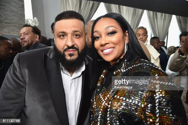 Khaled and Monica attend Roc Nation THE BRUNCH at One World Observatory on January 27 2018 in New York City