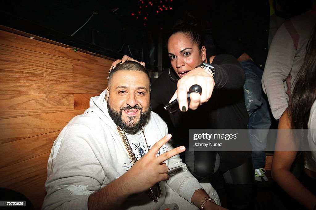 DJ Khaled and music executive Marleny Dominguez attend the 'Mastermind' Album Release Party at Greenhouse on March 4, 2014 in New York City.