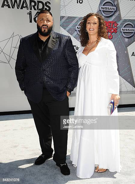 Khaled and Nicole Tuck attend the 2016 BET Awards at Microsoft Theater on June 26, 2016 in Los Angeles, California.