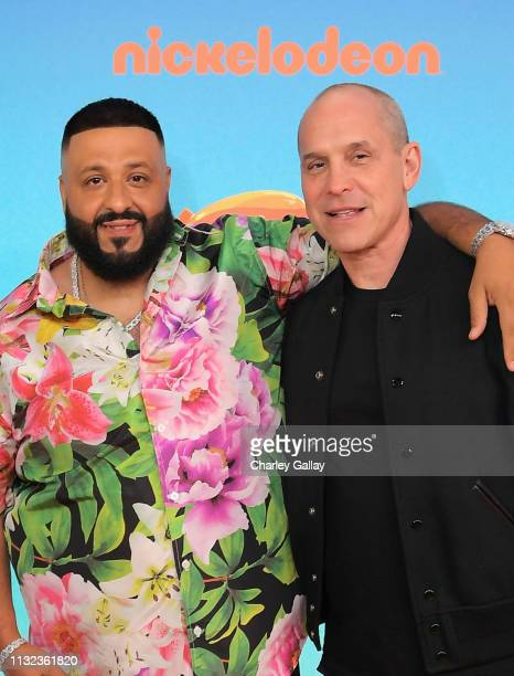Khaled and President of Nickelodeon Brian Robbins attend Nickelodeon's 2019 Kids' Choice Awards at Galen Center on March 23 2019 in Los Angeles...