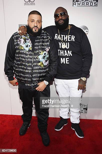 Khaled and rapper Rick Ross attend the 2016 American Music Awards at Microsoft Theater on November 20 2016 in Los Angeles California