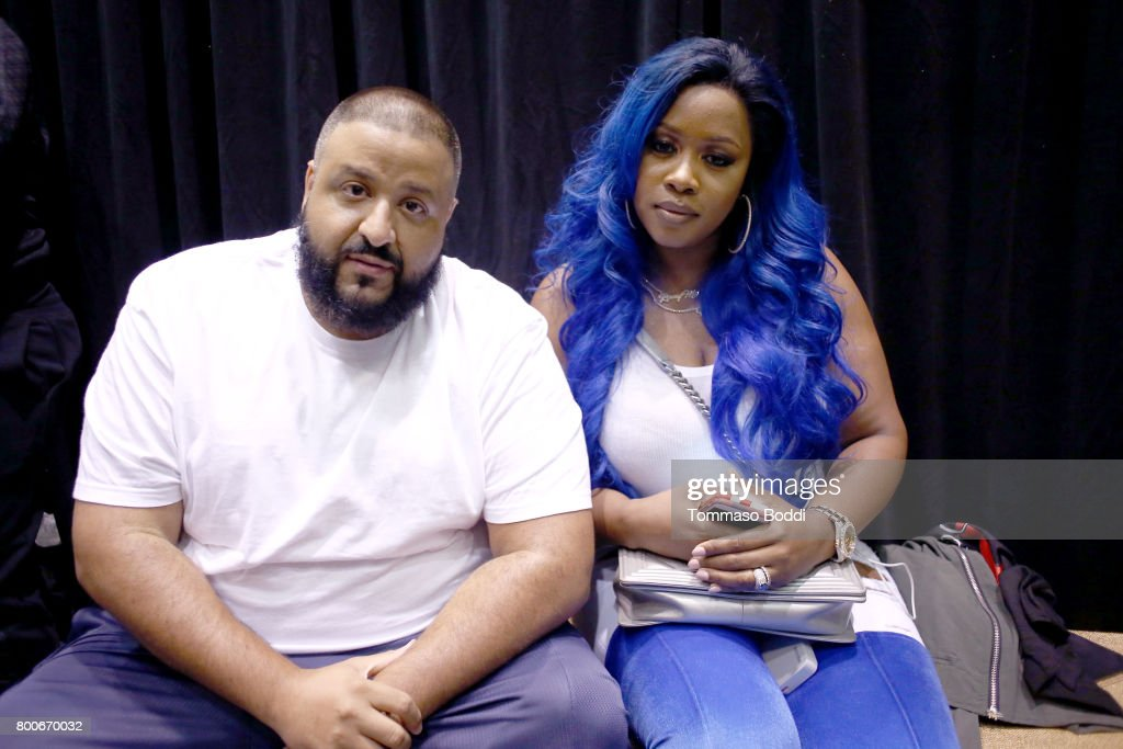 DJ Khaled (L) and Remy Ma at day one of BET Experience Fanfest at Los Angeles Convention Center on June 24, 2017 in Los Angeles, California.