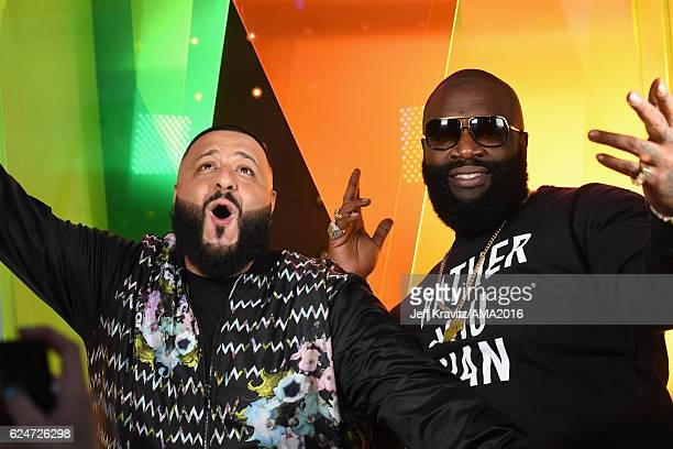 Khaled and Rick Ross attend the 2016 American Music Awards at Microsoft Theater on November 20 2016 in Los Angeles California