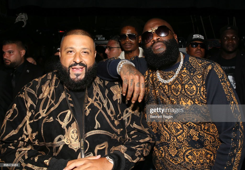 DJ Khaled and Rick Ross attend the BET Hip Hop Awards 2017 at The Fillmore Miami Beach at the Jackie Gleason Theater on October 6, 2017 in Miami Beach, Florida.