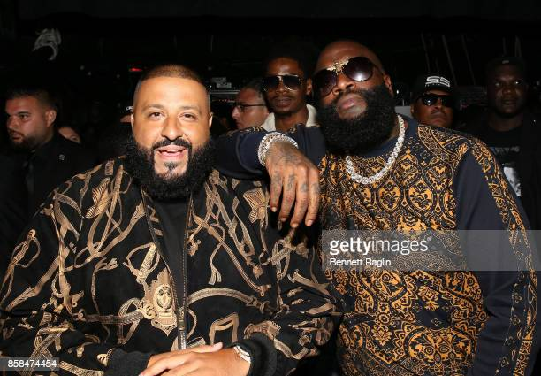 Khaled and Rick Ross attend the BET Hip Hop Awards 2017 at The Fillmore Miami Beach at the Jackie Gleason Theater on October 6 2017 in Miami Beach...