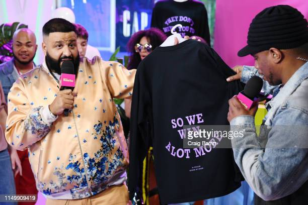 """Khaled and Sway Calloway show merch collection to fans as """"MTV Presents: Khaled Con,"""" a DJ Khaled-hosted fan event in MTV's Times Square Studio,..."""