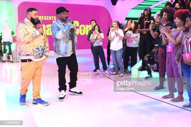"""Khaled and Sway Calloway speak to fans as """"MTV Presents: Khaled Con,"""" a DJ Khaled-hosted fan event in MTV's Times Square Studio, celebrating the..."""