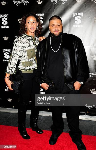 Khaled and wife arrive at Lil Wayne Welcome Home Party hosted By Cash Money Records on November 7 2010 in Miami Florida