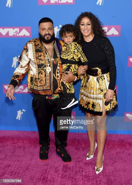 Khaled Asahd Khaled and Nicole Tuck attend the 2018 MTV Video Music Awards at Radio City Music Hall on August 20 2018 in New York City