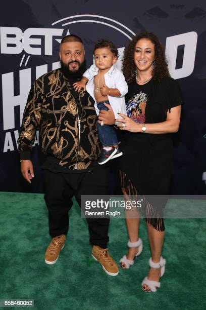 Khaled Asahd Khaled and Nicole Tuck attend the BET Hip Hop Awards 2017 at The Fillmore Miami Beach at the Jackie Gleason Theater on October 6 2017 in...