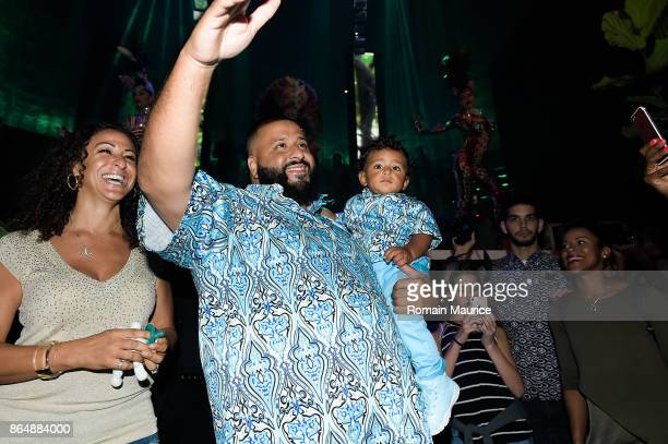 Khaled Asahd Khaled arrive at Tot Living By Haute Living Celebrates Asahd's First Birthday With Cybex on October 21 2017 in Miami Florida