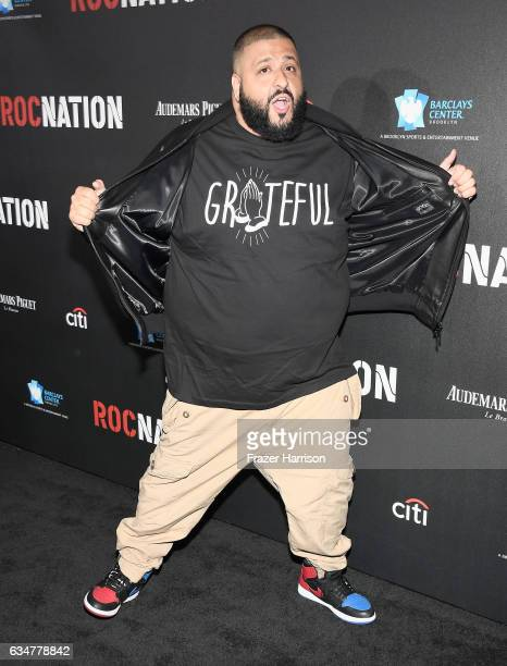 Khaled attends 2017 Roc Nation PreGrammy Brunch at a private residence on February 11 2017 in Los Angeles California