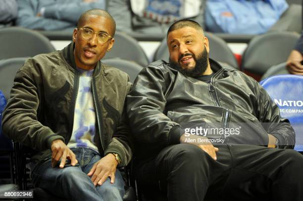Khaled attends a basketball game between the Los Angeles Clippers and the Los Angeles Lakers at Staples Center on November 27 2017 in Los Angeles...
