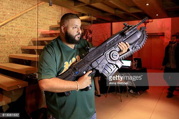 Khaled attends Carmelo Anthony Xbox Gears Of War 4 event at The Microsoft Loft on October 6 2016 in New York City