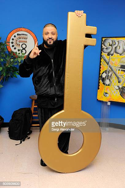 Khaled attends Get Schooled Celebrate at Carol City Middle School on January 20 2016 in Miami Florida