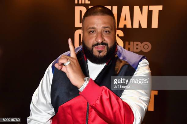 Khaled attends HBO's 'The Defiant Ones' premiere at Paramount Studios on June 22 2017 in Los Angeles California