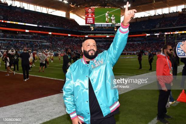 Khaled attends Super Bowl LIV at Hard Rock Stadium on February 02, 2020 in Miami Gardens, Florida.