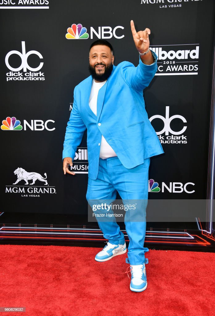 DJ Khaled attends the 2018 Billboard Music Awards at MGM Grand Garden Arena on May 20, 2018 in Las Vegas, Nevada.