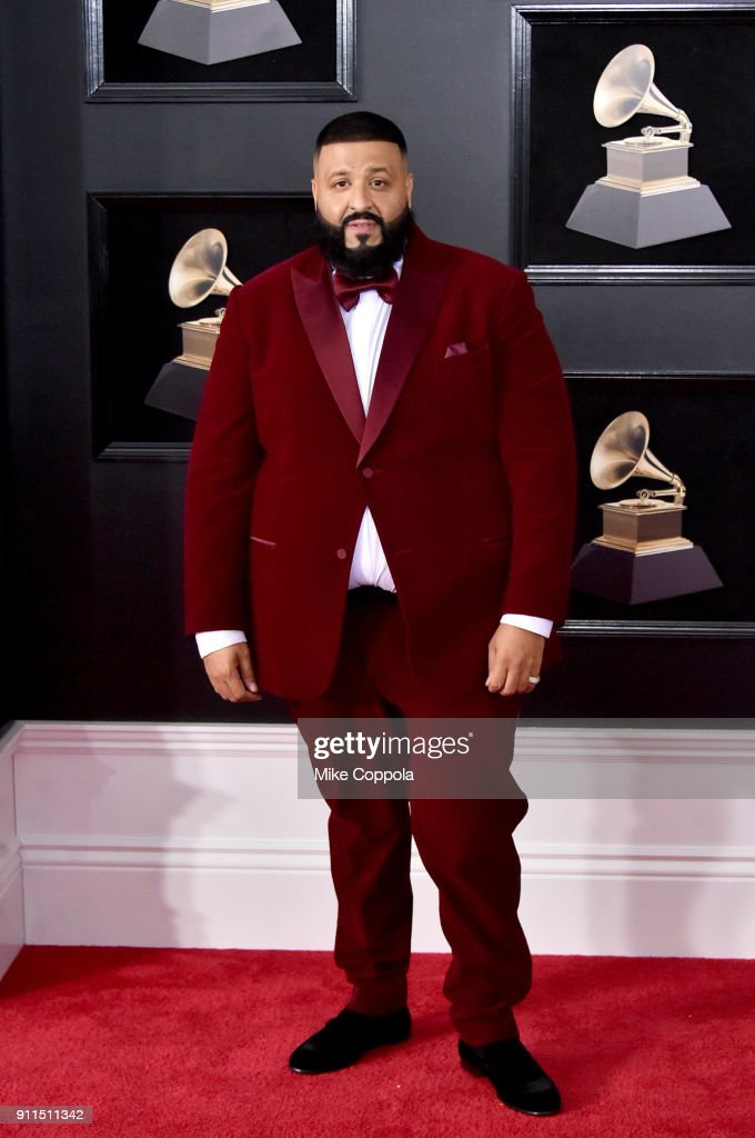 DJ Khaled attends the 60th Annual GRAMMY Awards at Madison Square Garden on January 28, 2018 in New York City.