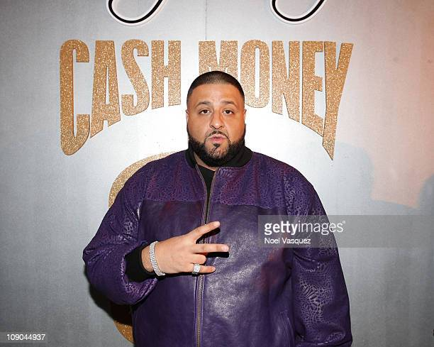 Khaled attends the Cash Money Records Annual PreGRAMMY Party at The Lot on February 12 2011 in West Hollywood California